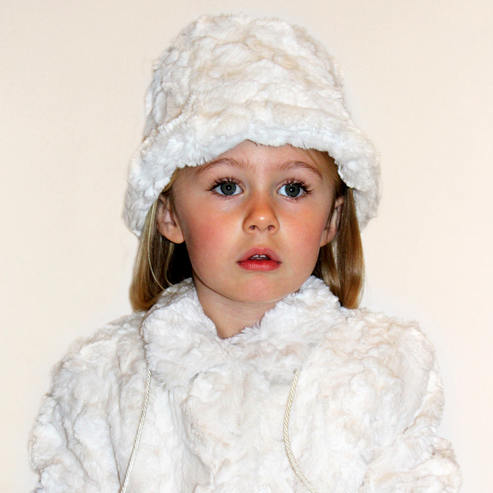 Oslo Winter White Faux Fur Girls Coat