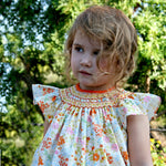 Baby Bishop Hand Smocked & Hand Emb Summer Floral Cotton