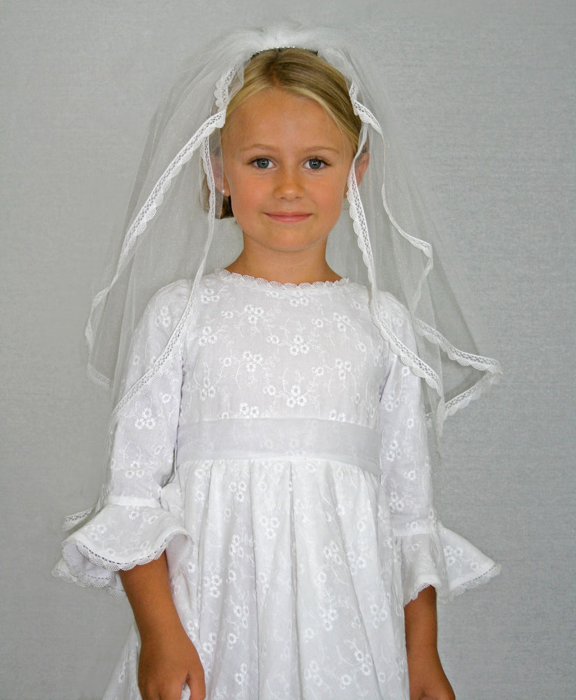 Cotillion Embroidered Cotton Girls Dress