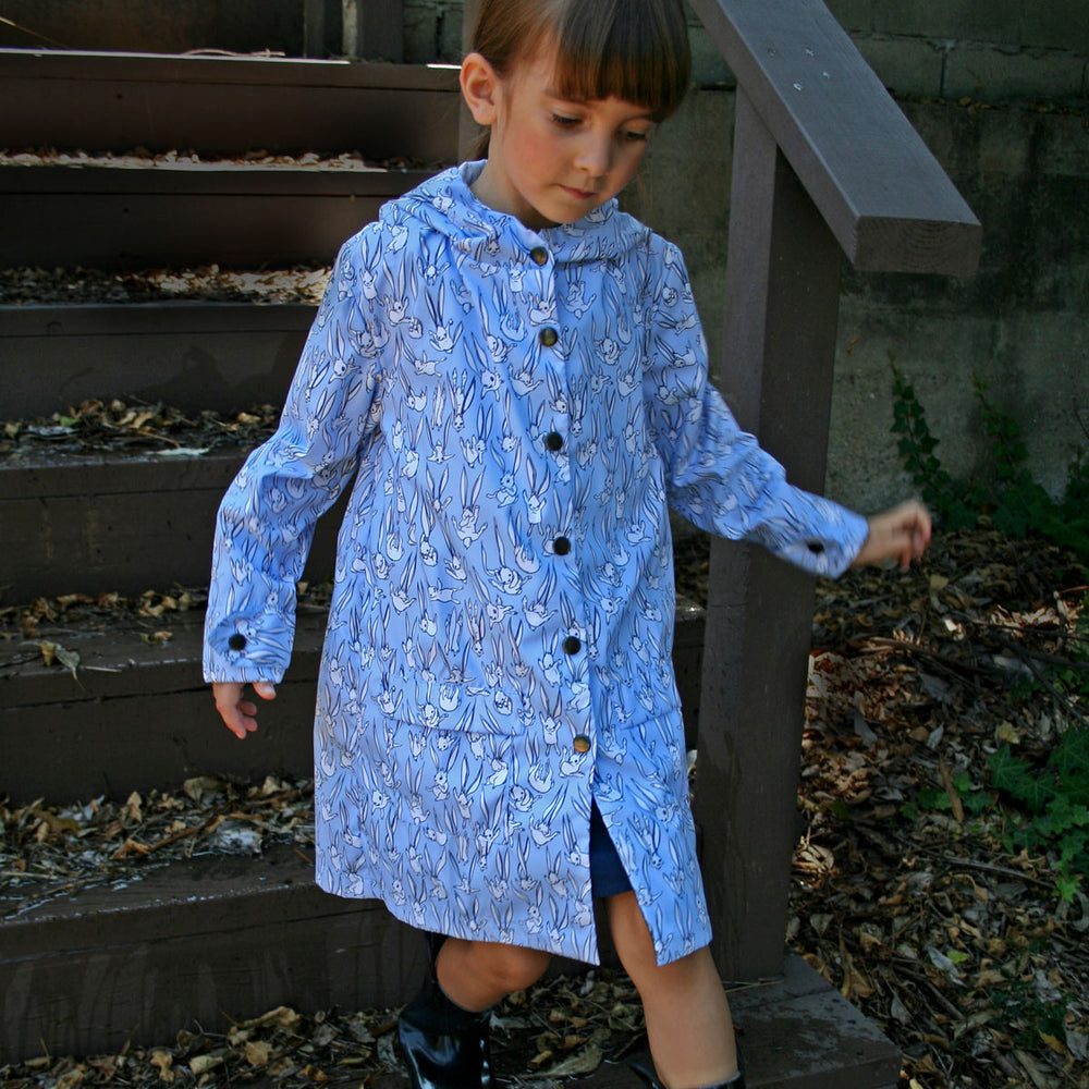 Light Blue Bunny Raincoat
