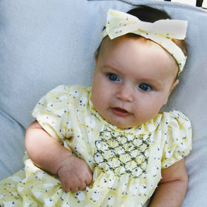 Little Birdies Baby Bow Elastic Headband