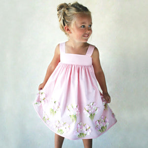 Cotton Sundress with Hydrangeas