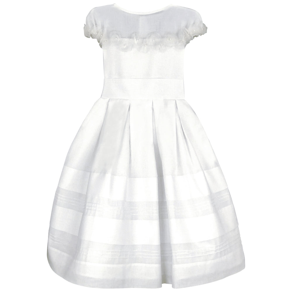 Lily Organdy & Flowers Girls Dress