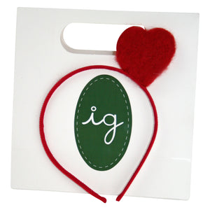 Gift Wrapped Red Heart Headband