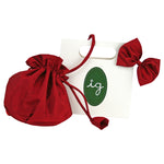Gift Wrapped Holiday Red Bow Hairclip & Handbag Set