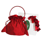 Gift Wrapped Red Roses Headband & Handbag Set