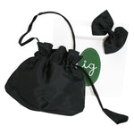 Gift Wrapped Holiday Black Bow Hairclip & Handbag Set