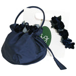 Gift Wrapped Navy Roses Headband & Handbag Set