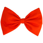 Padded Bow Hairclip in Orange Cotton