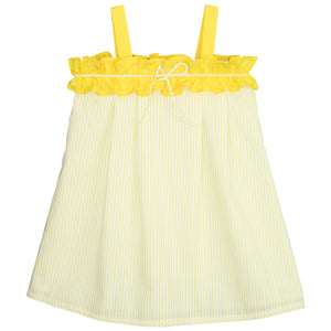 Ruffles and Stripes Cotton Girls Dress