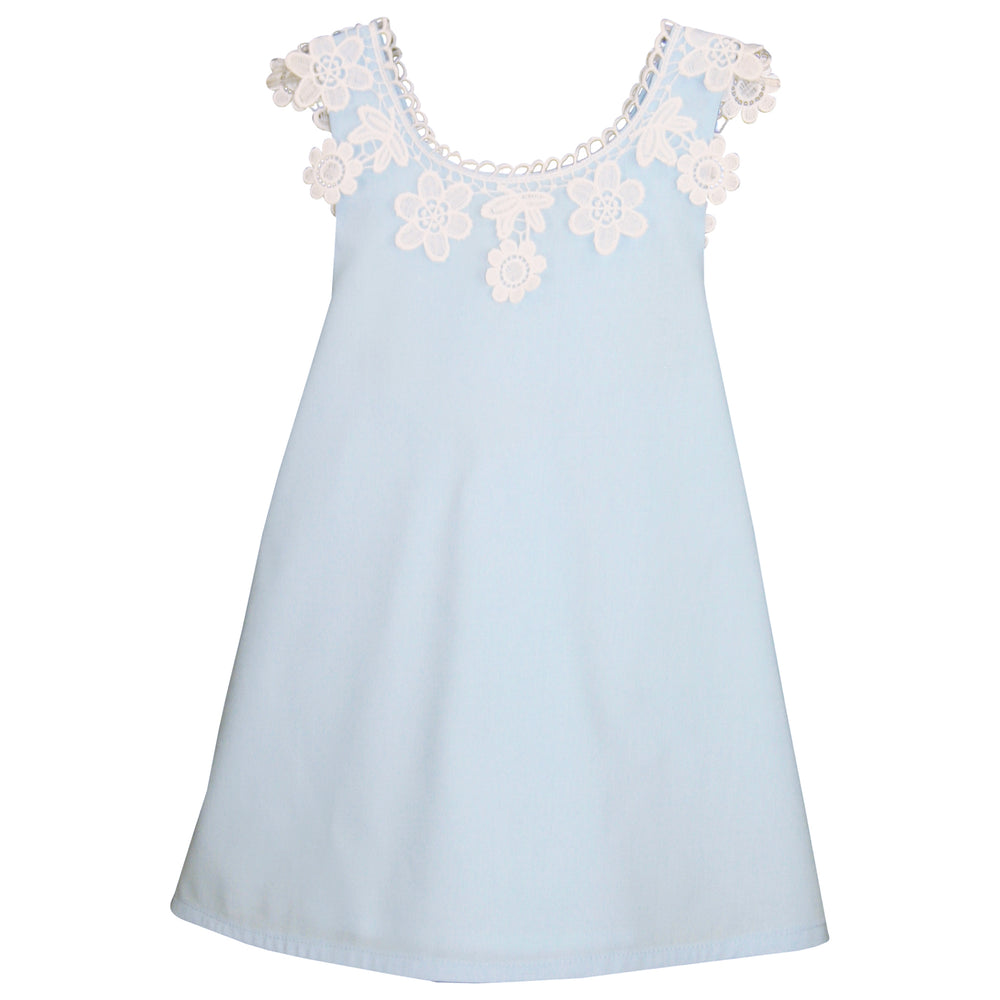 Cotton Baby Sundress with Big Floral Lace Detail