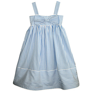 Summer Stripe Girls Dress with Big Bow