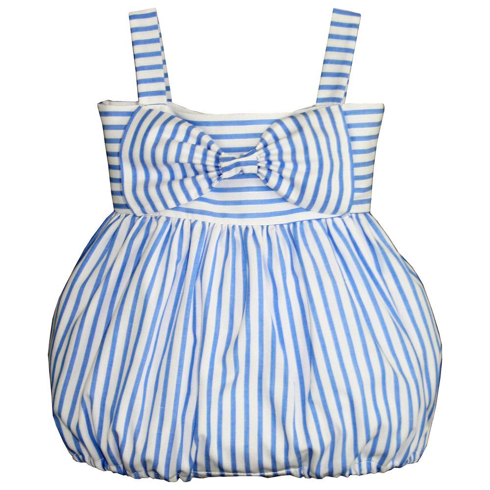 Stripe Summer Baby Bubble with Big Bow