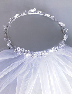 Sparkling Halo Girls Veil