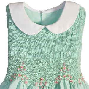 Hand Smocked Sleeveless Girls Dress