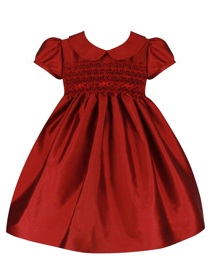 Classic Smocked Baby Holiday Dress