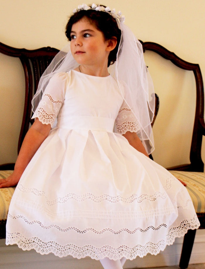 Beautiful Cotton Lace Girls Dress