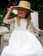 Lovely Lace Girls Dress Mid-Calf Length