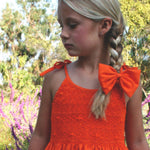 Hand Smocked & Hand Emb Cotton Sundress