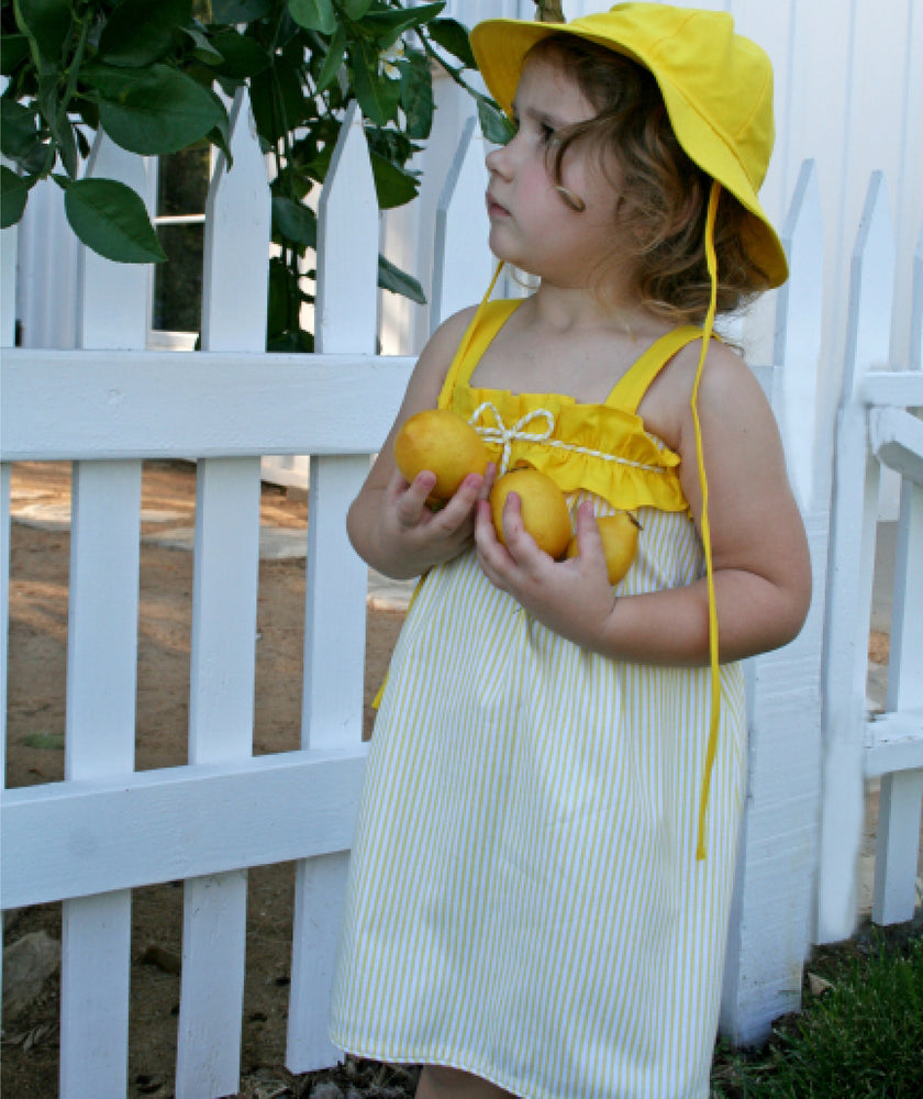 Yellow Cotton Sun Hat