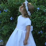 Trellis Cotton Organdy Cap Sleeve Girls Dress