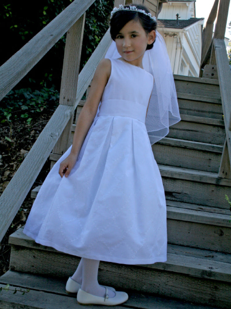 Trellis Cotton Organdy Sleeveless Girls Dress