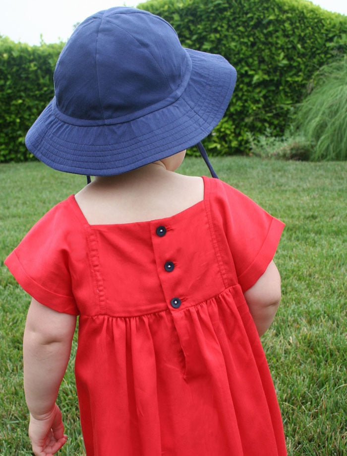 Hand Smocked & Hand Emb Panel Cotton Girls Dress