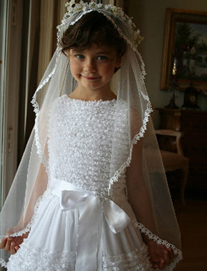 Girls Simple Veil with Lace