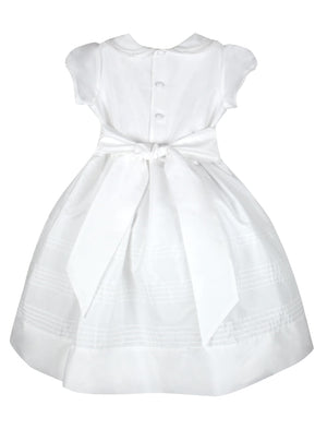 Subtle Girls Silk Dress Short Sleeves