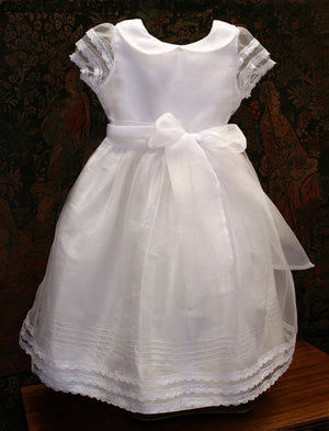 Swing Organza Overlay Two in One Plus Size Communion Dress