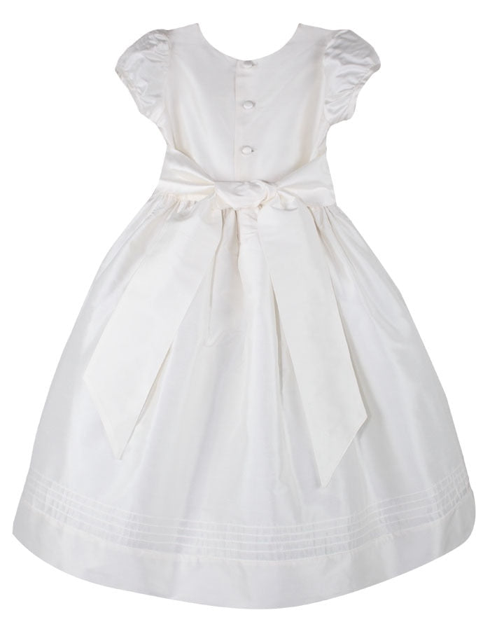 Timeless Floor Length Girls Dress with Short Sleeves