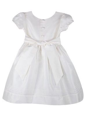 Timeless Girls Dress Below Knee Length with Short Sleeves