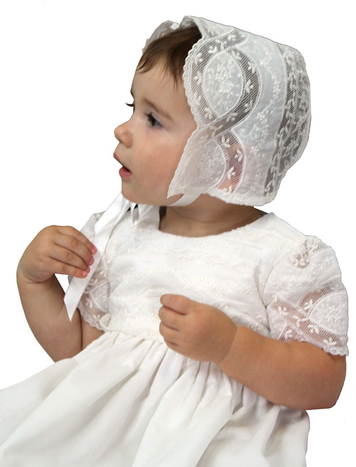 Treasure Christening Gown & Bonnet