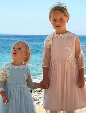 Spring Tulle with Flowers Baby Dress
