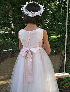 Windy Girls Dress with Tulle Skirt