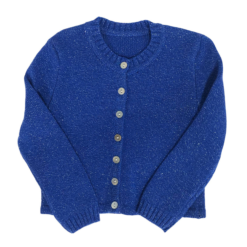 Blue Sparkle Knit Cardigan