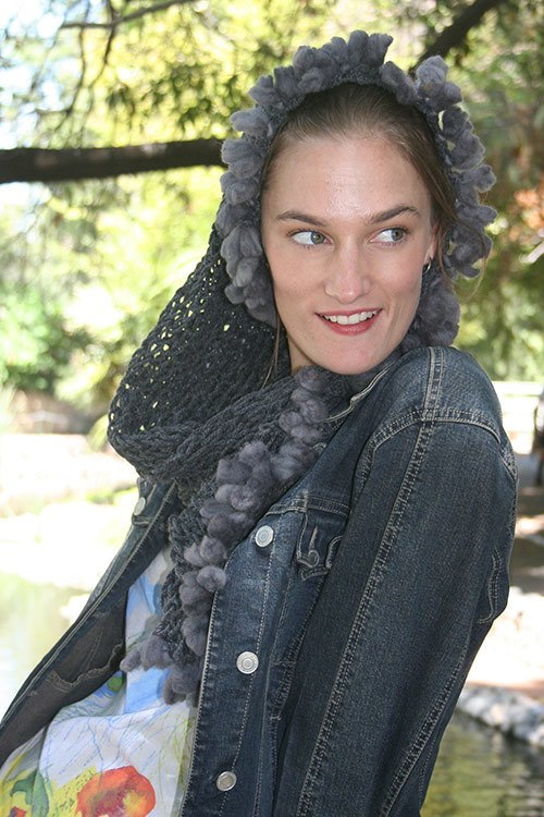 Grey Twist Scarf