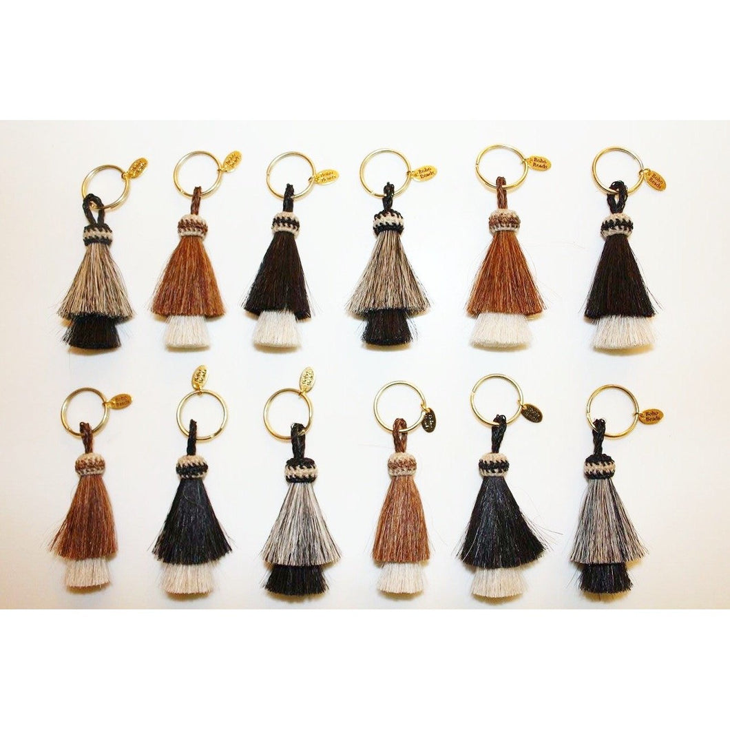 Ansley Horse Hair Tassel Key Chain