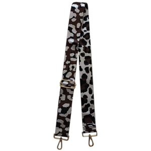 "2"" Black/Brown Leopard Print Bag Strap"