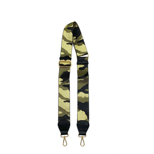 "2"" Camo Black/Army/Gold Bag Strap"