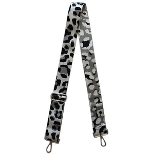 "2"" Grey/Black Leopard Bag Strap"