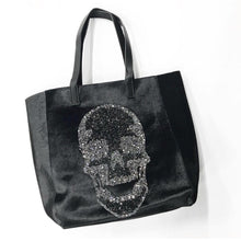 Load image into Gallery viewer, Velvet Skull Tote