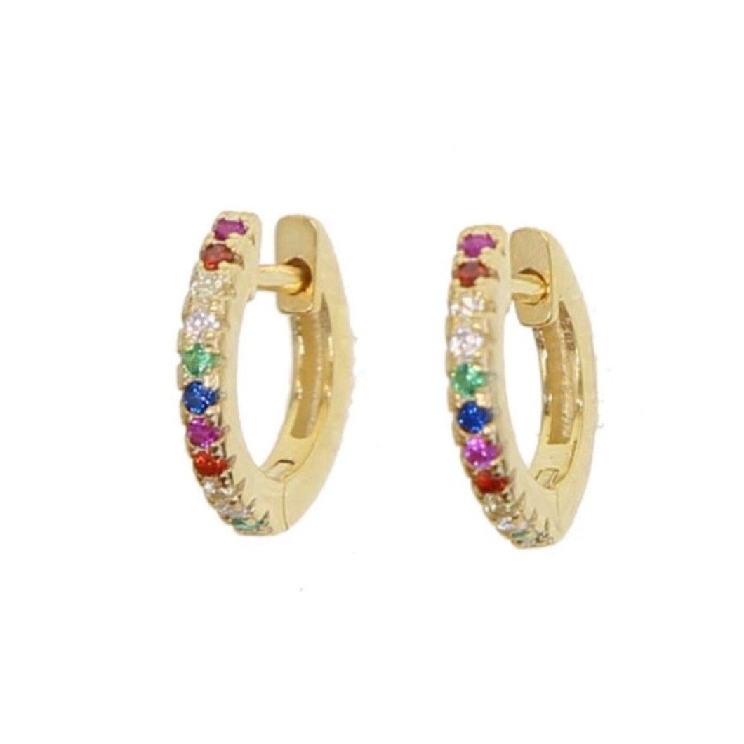 Mini Rainbow Hoop Earrings