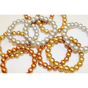 Kids Metallic Mala Bracelet