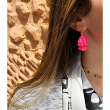 Load image into Gallery viewer, Star Stud Tassel Earrings