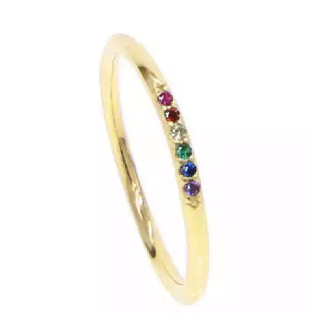 Rainbow Layer Ring- Thin