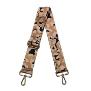 "2"" Blush Leopard Bag Strap"