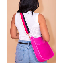 Load image into Gallery viewer, Mini Neoprene Messenger- Hot Pink