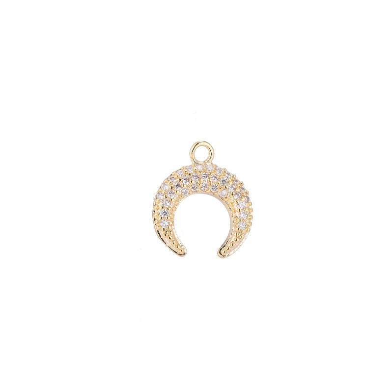 Crescent Horn Charm- Gold