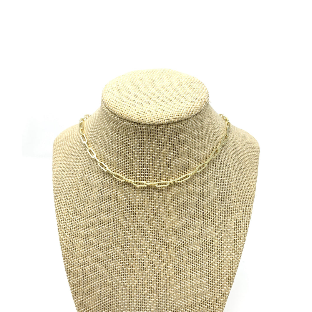 "Boho Beads Link 16"" Chain Necklace"